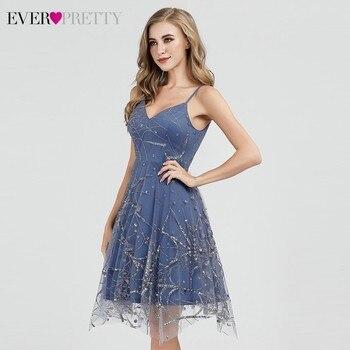 Sexy Prom Dresses Ever Pretty Deep V-Neck Sleeveless A-Line Cheap Women Formal Party Dresses Estidos De Fiesta De Noche 2020 3