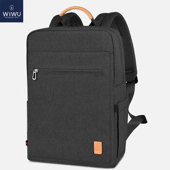 WIWU Fashion Laptop Backpack 15.6 Large Capacity School Backpacks Nylon Laptop Bag 15.6 inch Women Male Lightweight Backpack laptop bag