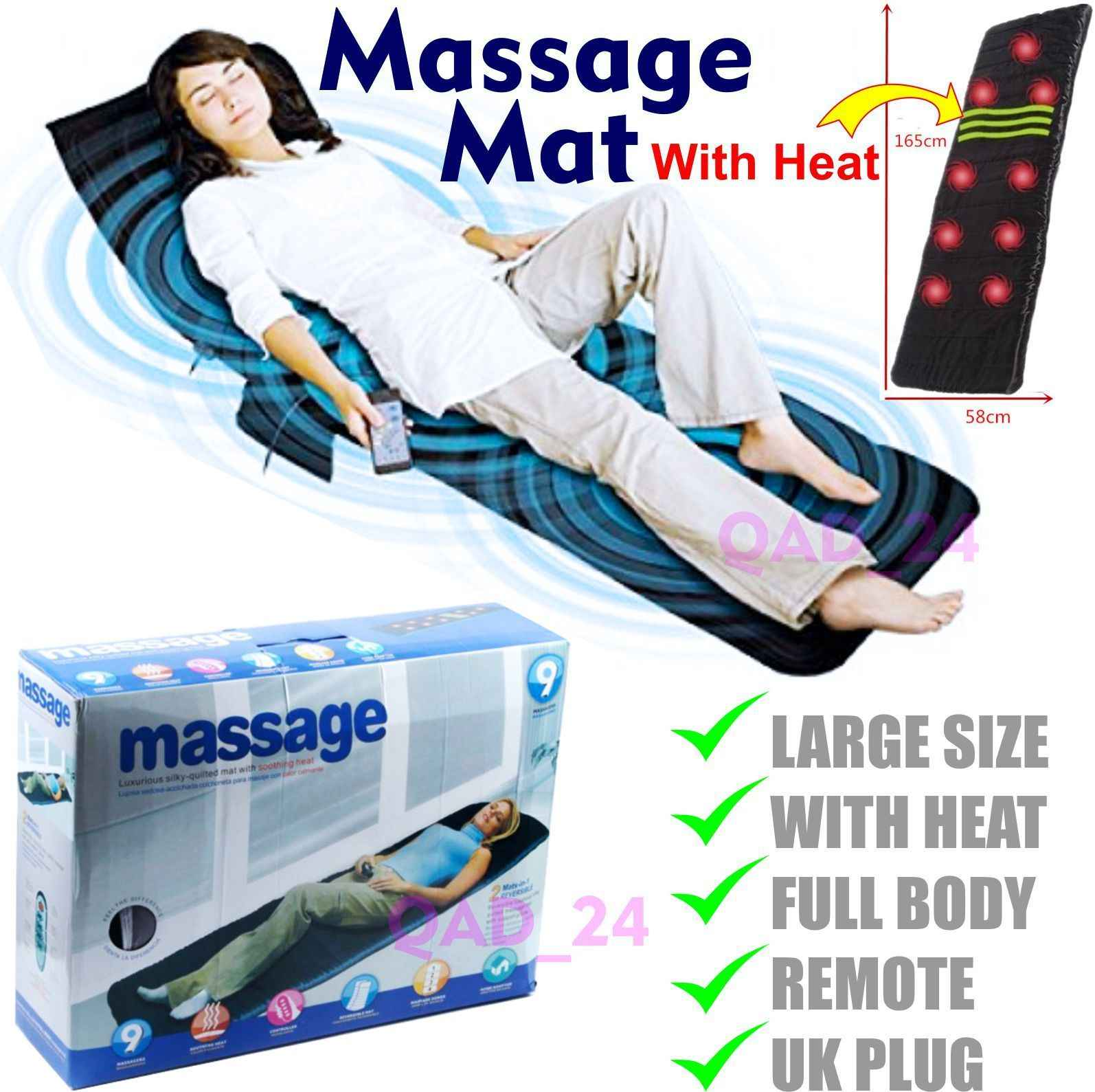 Electric Vibrator Massage Mat Mattress Full Body Heated Back Neck Massager Remote Control Cushion Sofa Bed Waist Cushion Mat