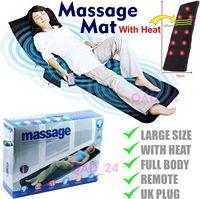 Electric Vibrator Massage Mat Mattress Full Body Heated Back Neck Massager Remote Control Cushion Sofa Bed Waist Cushion Mat