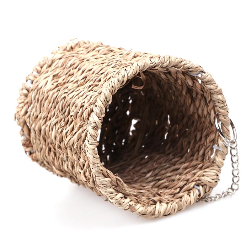 Home & Garden Bird Cages & Nests Winter Soft Warm Birds Parrot Nest Hanging House Hammock Cage Hand-woven Sleeping Nest Pet Bed Bird Nest Pet Supplies High Quality And Low Overhead