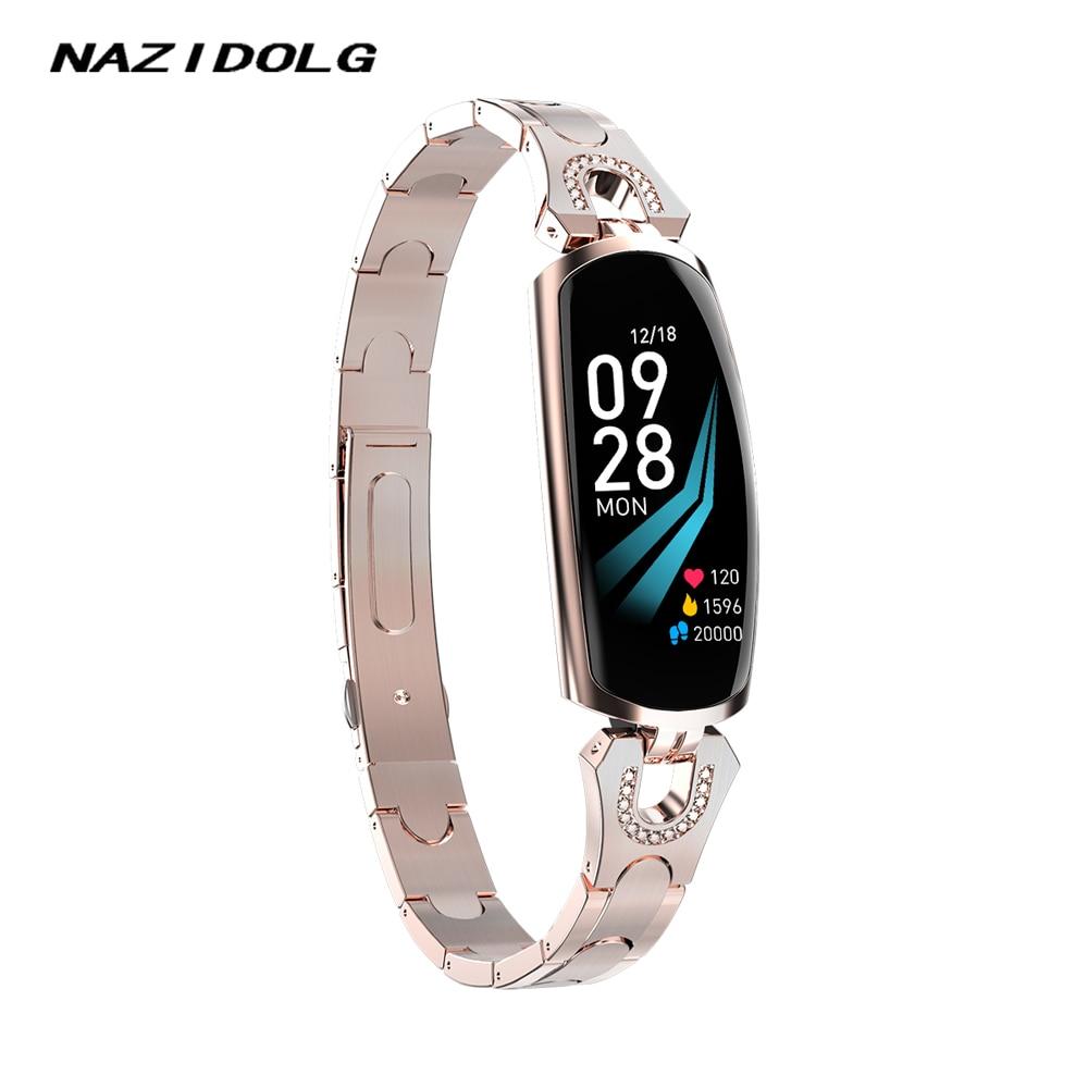 Women Smart Watch With Bluetooth Bracelet For Smartwatch Women Fashion Lady Wristwatch Girl High Grade Wristband AK16