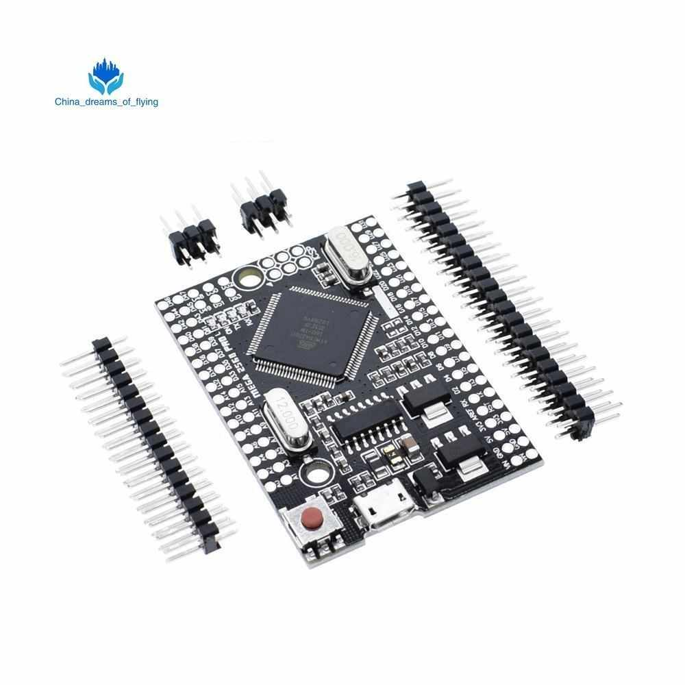 TZT Mega 2560 PRO MINI 5V (Embed) CH340G ATmega2560-16AU with male  pinheaders Compatible for arduino Mega 2560