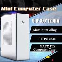 LEORY M1 Aluminum Alloy mATX ITX Computer Case HTPC Case Support 1U Flex Power Supply 250x100x315mm Super Thin Body Design
