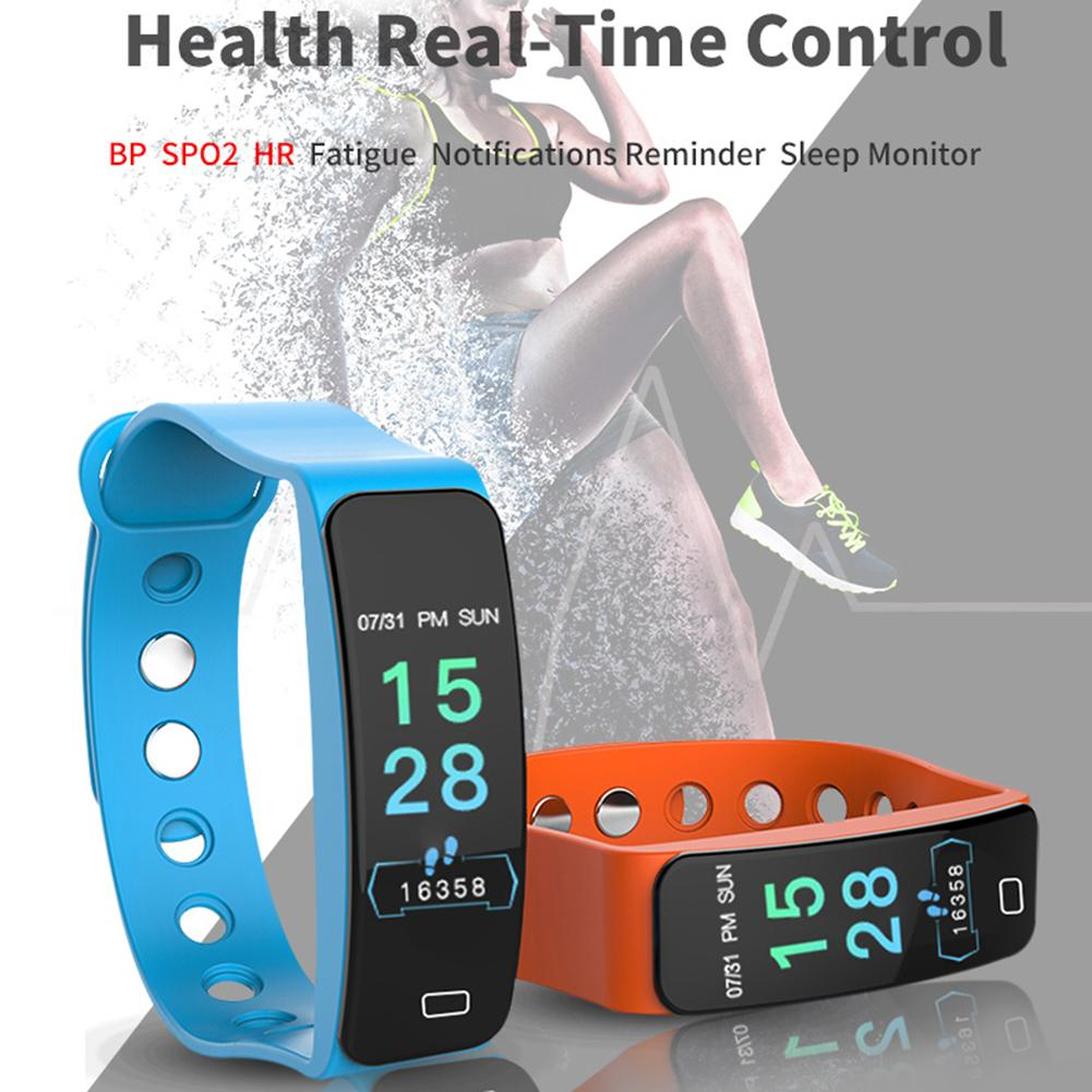 Image 2 - B4 Color Screen Sports Smart Bracelet Heart Rate Blood Pressure Sleep Monitoring Health Fitness Tracker Color Box Charging Cable-in Smart Wristbands from Consumer Electronics