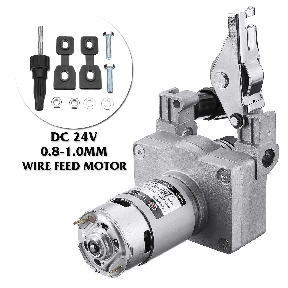 0.8-1.0mm Welding Wire Feed Motor Assembly Feeder Set DC24V No Connector Wire Feeder0.8-1.0mm Welding Wire Feed Motor Assembly Feeder Set DC24V No Connector Wire Feeder