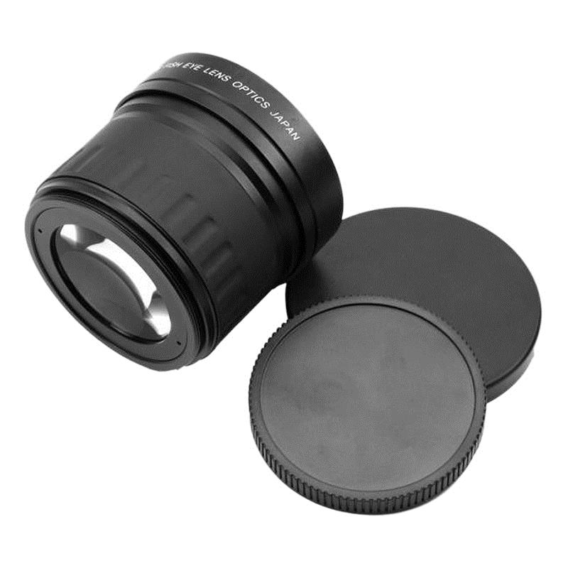 52mm 0.21X Fisheye Wide Angle Macro Lens For Nikon Canon Digital DSLR Camera-in Camera Lens from Consumer Electronics