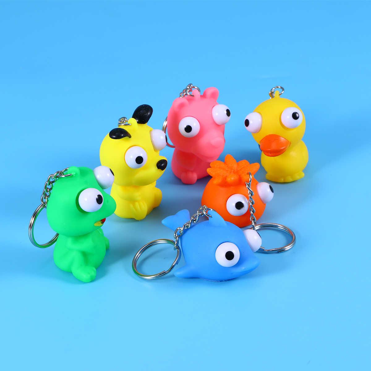 10 шт. сдавливаемые игрушки брелок приподнятые глаза кукла креативные вентиляционные игрушки игрушка для снятия стресса