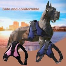 S/M/L/XL Регулируемый светоотражающий ремень очень прочный нейлон шлейка для собаки домашнего животного ошейник собаки жилет собак Хаски принадлежности