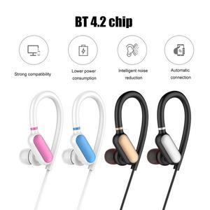 Image 5 - Fone de Ouvido portátil 4.2 Bluetooths Pluggable Gancho do Ouvido Fones de Ouvido Anti slip Sweat proof Hd Stereo Baixo Sports Dispositivos de Música fone de ouvido com Microfone