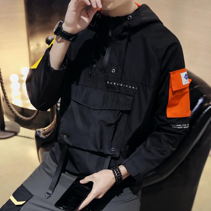Jacket 2019 Spring Male Student Korean Version Casual Loose Wind Hip Hop Baseball Hot Sale Tops Windbreaker Black Free Shipping
