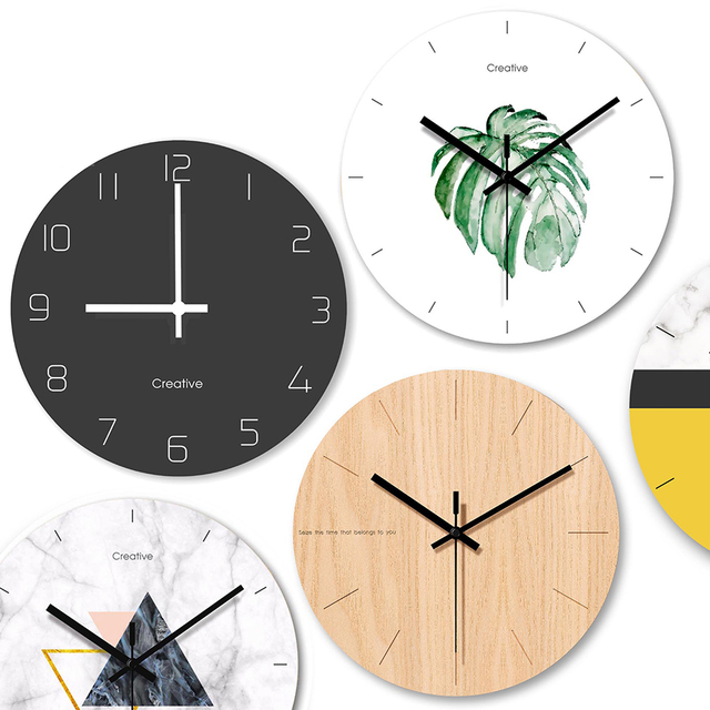Modern Design Minimalist Watch Glass Art Clock Wall Home Decor Large Decorative Vintage Wall Clock Silent Home Decoration 50Q009