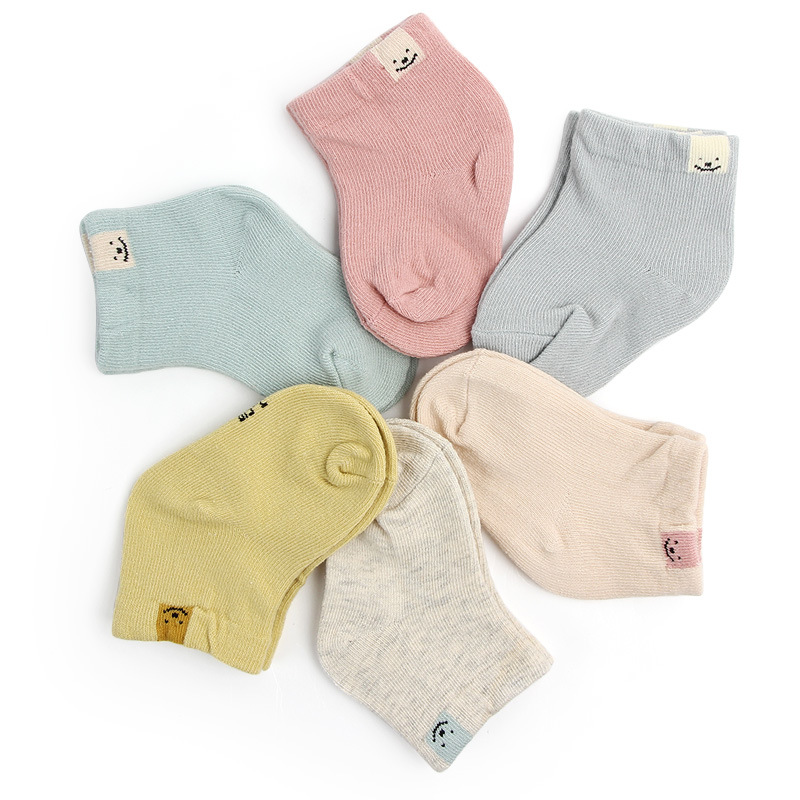 1 Pair Spring Autumn New Cotton Fashion Cute Unisex Baby Newborn Fresh Candy Color Baby Socks Sock