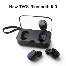 Tws V5.0 Bluetooth Earphones Stereo Bass In-ear Wireless Earphone Earbuds With Charging Box Sports Headsets For Phone Xiaomi caseier in ear wireless bluetooth earphone hifi stereo sports for universal phone headphone wireless charging box case headsets