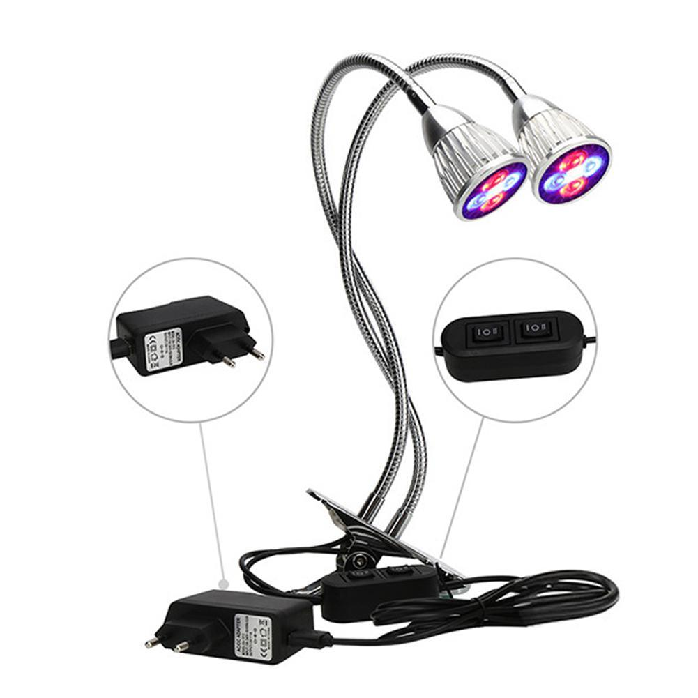 5W LED Grow Light Lamp Bulb For Plant with Full Spectrum Holder Clip include red and blue light