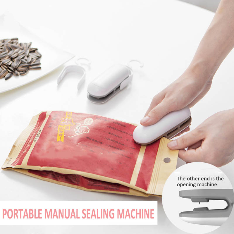 Image 2 - Mini Package Sealing Machines Heat Sealer Vacuum Resealer Snacks Bags Tools Plastic Handy Portable Kitchen Storage 1Pcs-in Bag Clips from Home & Garden