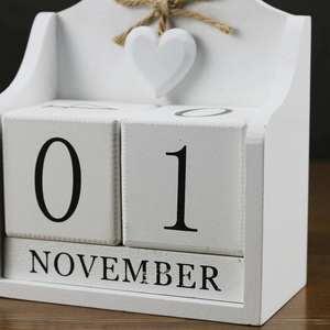 Image 4 - 2019 креативный Настольный календарь с вечным календарем «сделай сам», календарь с деревом, модное украшение для дома и офиса, подарок белый