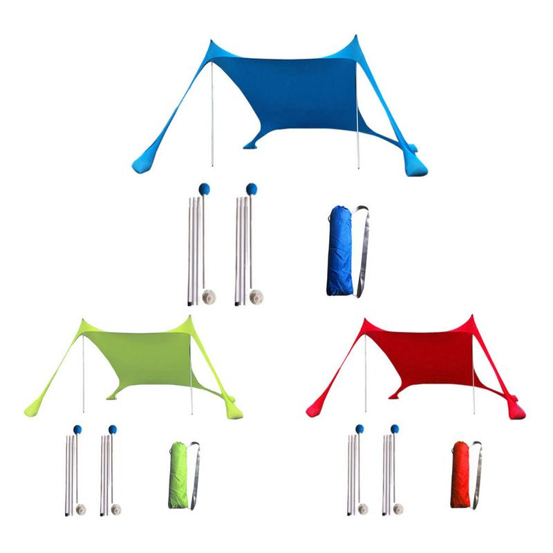 Beach Awnings Light Sunshade Tents High Quality Lycra Fabrics Large Portable Suitable For Beaches Parks And