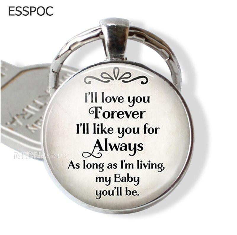 I'll Love You Forever Family Love Keychain Love Daughter Children Key Chain Key Rings