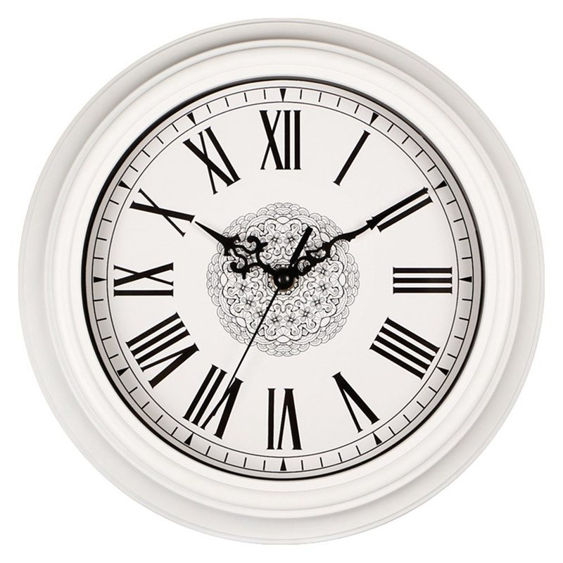 12-Inch Silent Non-Ticking Round Wall Clocks, Decorative Vintage Style Roman Numeral Clock Home Kitchen/Living Room/ Bedroom (