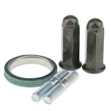 5 шт металлические выхлопные шпильки прокладка гайки наборы