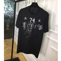 New Fashion Arrival 74 Star Print Tee T Shirt Short Sleeve Cotton For Men Women