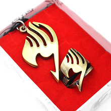 Japan anime Fairy Tail Ring Necklace boys girl cosplay Metal