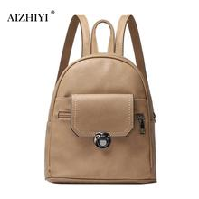 Luxury Women Backpack Bags Black PU Leather Waterproof High