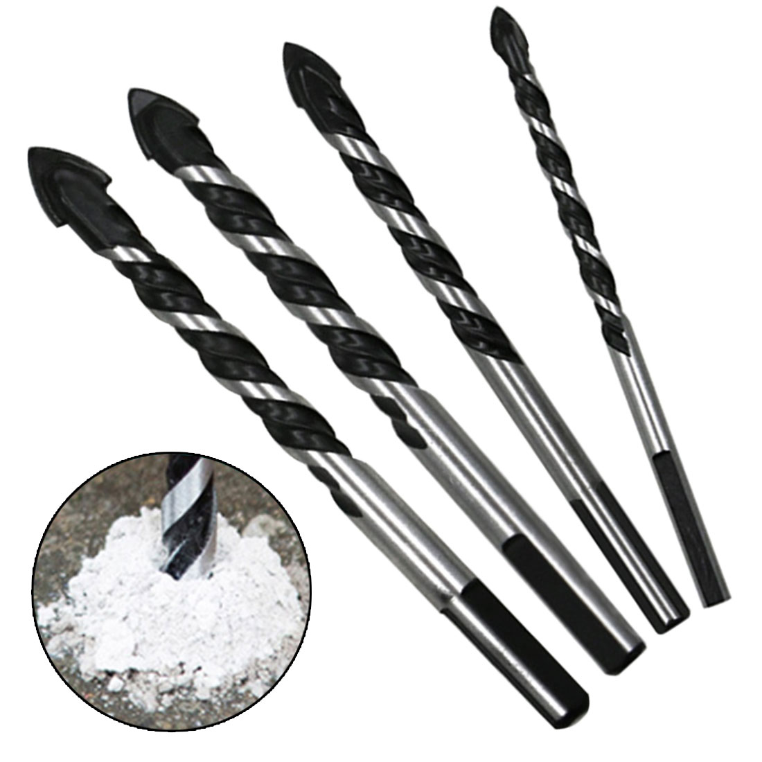 Multifunctional 6-12mm Glass Drill Bit Twist Spade Drill Triangle Bits For Ceramic Tile Concrete Glass Marble
