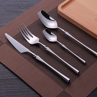 WSHYUFEI 4 Sets/16pieces Cutlery Forks Knives Spoons Dinnerware Tableware Portable Golden Cutlery Set Silverware