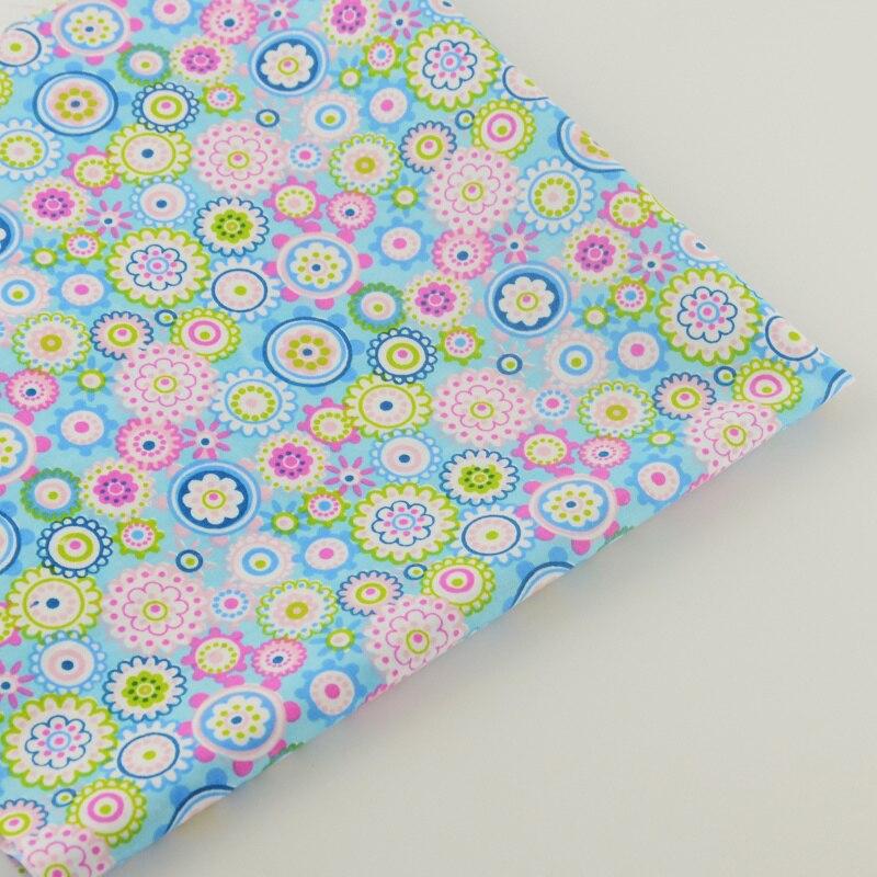 Kleurrijke bloemen ontwerpen katoen stof Twill Quilten Patchwork CM - Kunsten, ambachten en naaien