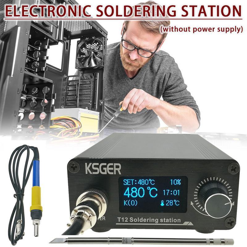 KSGER T12 V3.0 STM32 OLED Digital Temperature Controller Soldering Station Soldering Iron Rods Electrocautery Apparatus