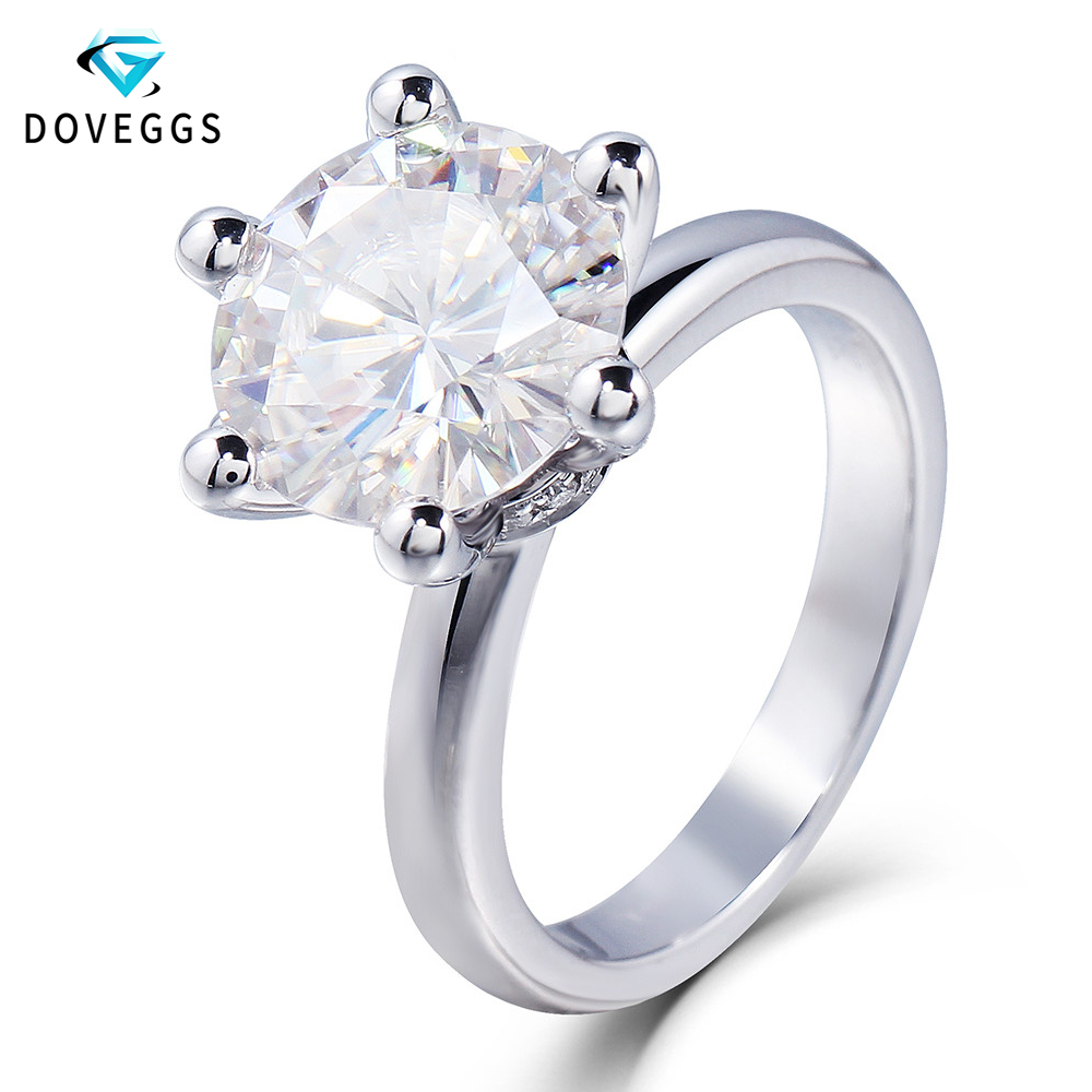Anel Masculino 2017 Christmas Gift GIA Certificate Engagement Ring For Women 3 Ct F Color Moissanite Stone With Natrual Diamond