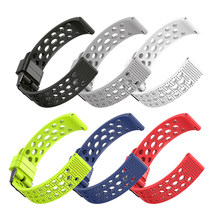 1Pcs Sports Replacement Silicone 22mm Wrist Band Strap For Samsung Galaxy Wrist Band Strap Replace 5 Colors(China)