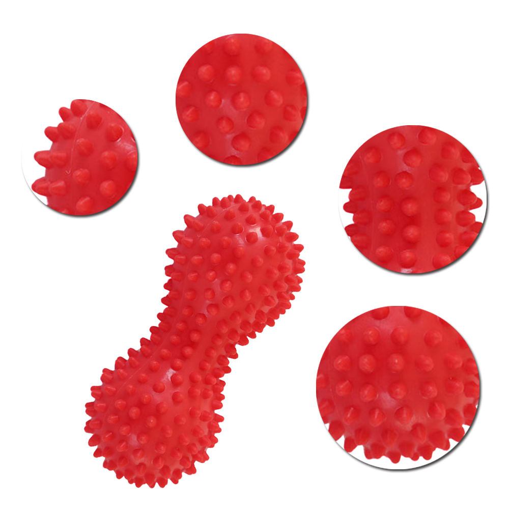 Peanut Shape Massage Yoga Sport Fitness Ball Durable PVC Stress Relief Body Hand Foot Spiky Massager Trigger Point Foot Pain