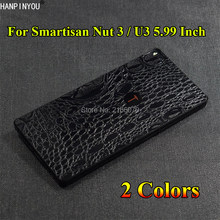 "For Smartisan Nut 3 Nut3 / U3 5.99"" Crocodile / Snake Skin Pattern Leather Full Body Back Cover Matte Decals Wrap Sticker Film(China)"