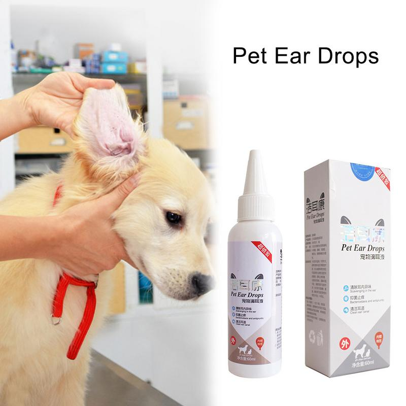 Cat Dog Ear Cleaner Pet Ear Drops For Infections Control Yeast Mites Pet Ear Cleaning Tools Household Pets Dog Accessories