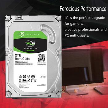 Seagate 2 TB dysk twardy hdd pulpit wewnętrzny HD 2000GB 2 TB dysk twardy 7200 obr min 64M 3 5 #8222 pamięć podręczna 6 Gb s SATA III dla komputer stancjonarny tanie i dobre opinie 3 5 SATA 3 0 7200 rpm 64MB ST2000DM006 22dB 2 sztuk 1000 GB 4 9 ms 730g