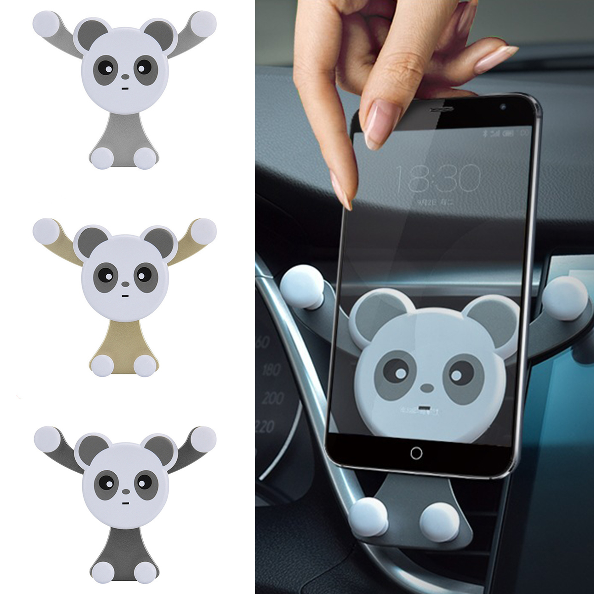 Automatic Tightening Phone Holders Car Air Vent Car Holder Accessories Smartphone Holder Mobile Phone Stand Universal