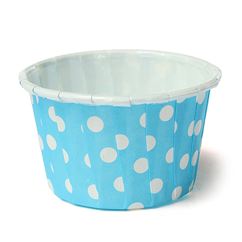 20 Pcs Paper Cups For Cupcake Muffin Cake Mold Decoration Point-blue