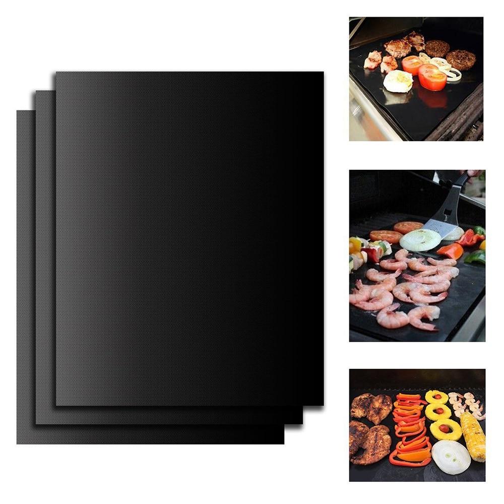 Non-Stick BBQ Grill Mat Barbecue Baking Mat Liners Teflon Heat Resistant Roast