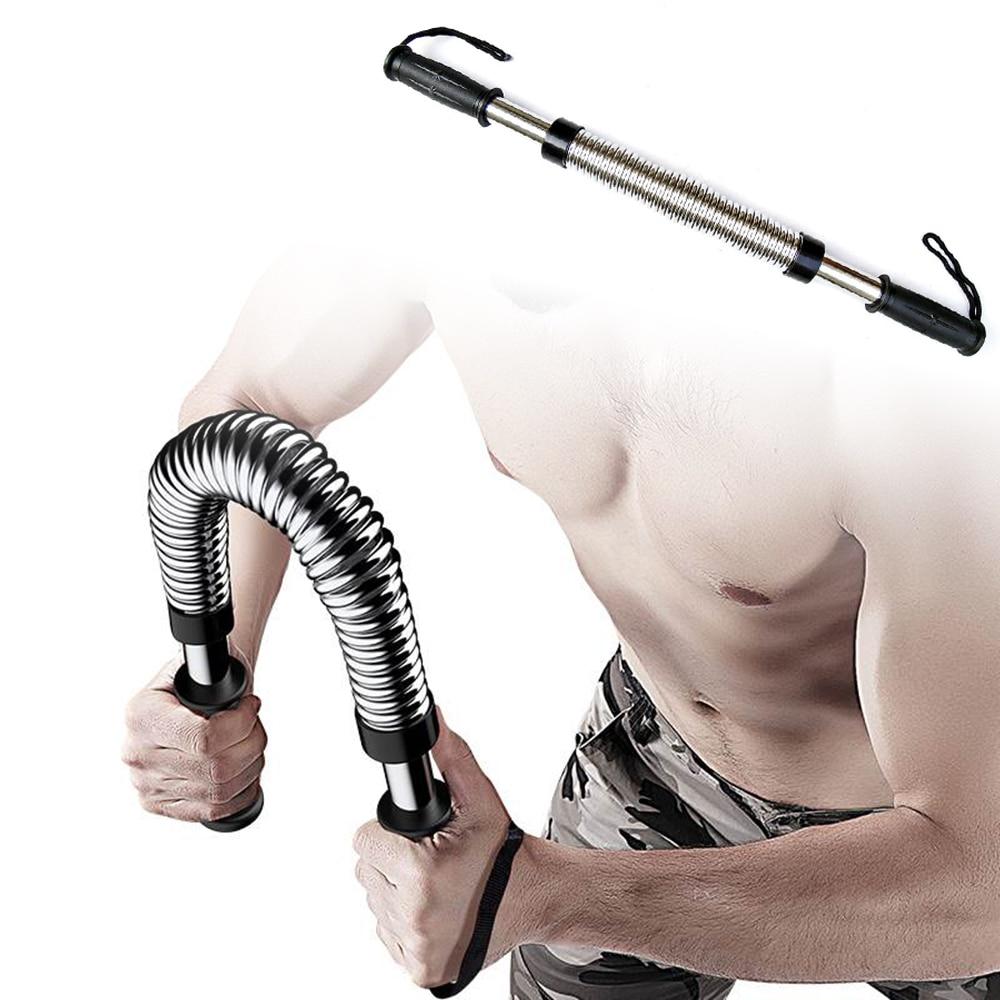 Power Twister Spring Resist Exerciser Bar Arm Muscular Strength Train