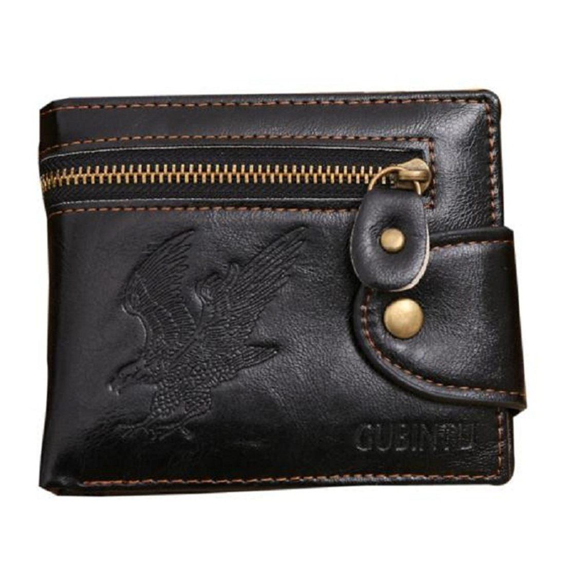 Fashion Gubintu Men's New Fashion High Quality Mini Zipper Wallet Male Pu Leather Card Cash Receipt Bags Holder Boys Clutch Pu