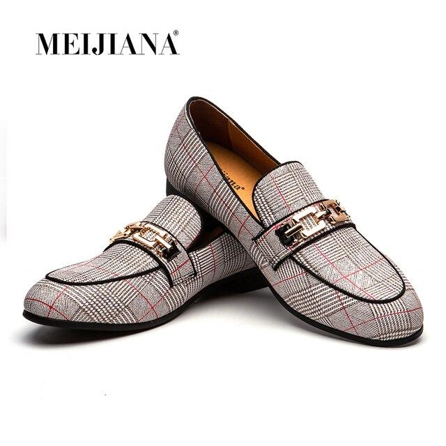 MEIJIANA חתונה ומסיבה נעלי 2019 חדש עור גברים של נעלי מוקסין גברים נעלי מותג נעליים יומיומיות אביב ובסתיו אופנה