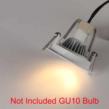10pcs Trimless Downlight Round Spot LED encastrable Lamp GU10 Fitting Recessed Ceiling Spot Lighting GU 10 Socket Frame Fixtures