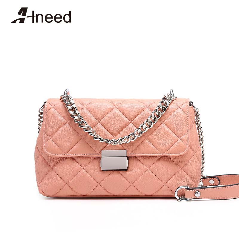 ALNEED Crossbody Bags for Women 2019 Quality Genuine Leather Shoulder Bag Girls Chain Handbags Diamond Lattice Flap Small PurseALNEED Crossbody Bags for Women 2019 Quality Genuine Leather Shoulder Bag Girls Chain Handbags Diamond Lattice Flap Small Purse