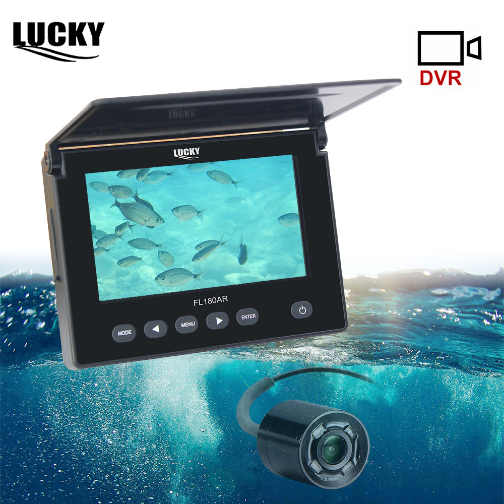 LUCKY Fish Finder Underwater Ice Fishing Video Camera Kit 20M Cable Fishfinder Fishing Camera IR Night