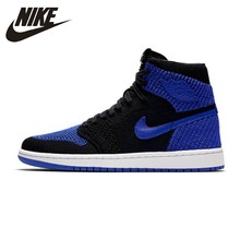 цена Nike Original Air Jordan 1 Flyknit Basketball Shoes AJ1 Authentic Men's Breathable Sports Sneakers New Arrival # 919704 онлайн в 2017 году