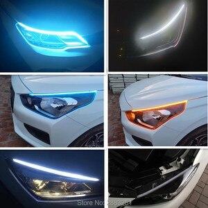 Бесплатная доставка 2шт гибкий светодиодный светильник DC12V полоса динамический стример автомобильная лампа для PEUGEOT 307 206 407 308 3008 508 207 Стайли...