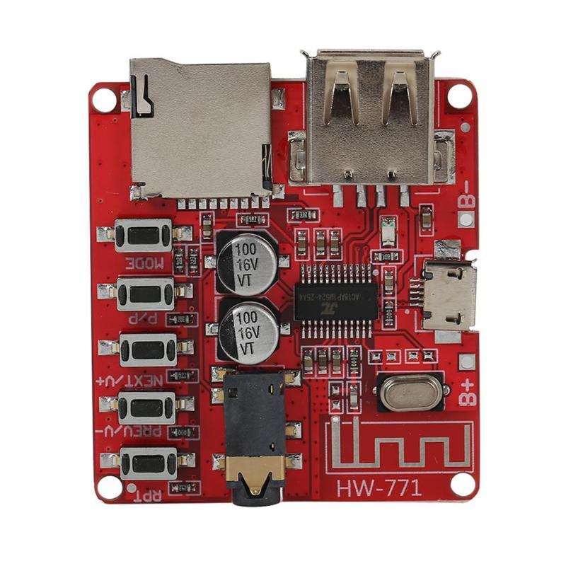 Bluetooth Audio Receiver board Bluetooth 4.1 mp3 lossless decoder board Wireless Stereo Music Module 3.7-5V